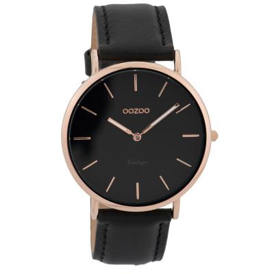 OOZOO Vintage Zwart horloge C9318 (40 mm)