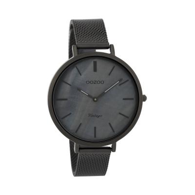 OOZOO Vintage  Zwart/Grijs horloge C9393 (40 mm)