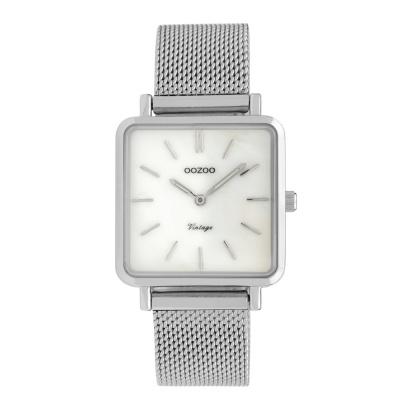 OOZOO Vintage Zilverkleurig horloge C9840 (29 mm)