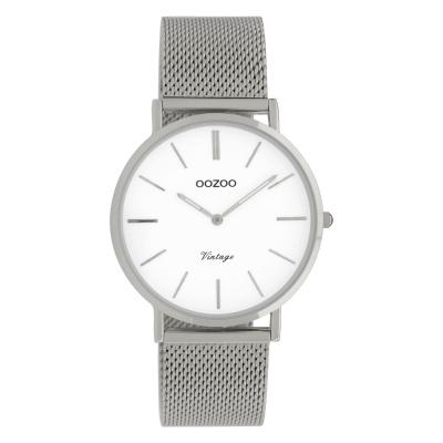OOZOO Vintage Zilverkleurig/Wit horloge C9902 (36 mm)