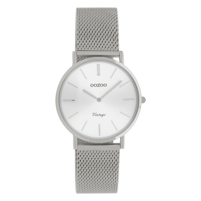 OOZOO Vintage Zilverkleurig horloge C9907 (32 mm)