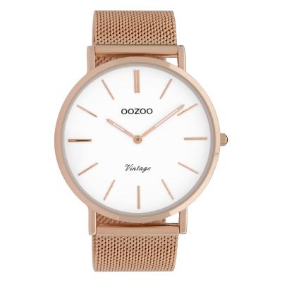 OOZOO Vintage Rosegoudkleurig/Wit horloge C9916 (44 mm)
