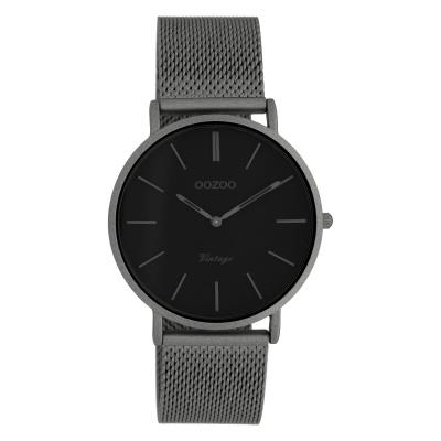 OOZOO Vintage Titanium/Zwart horloge C9930 (36 mm)