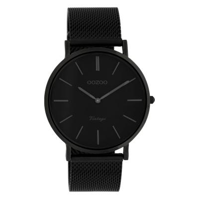 OOZOO Vintage Zwart horloge C9933 (40 mm)