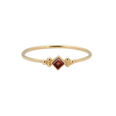 ANNA + NINA 14 Karaat Gouden Solid Gold Carré Ring 18-2M908073G