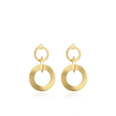 LOTT. gioielli 925 Sterling Zilveren Goudkleurige Oorbellen CLEA044-B41777