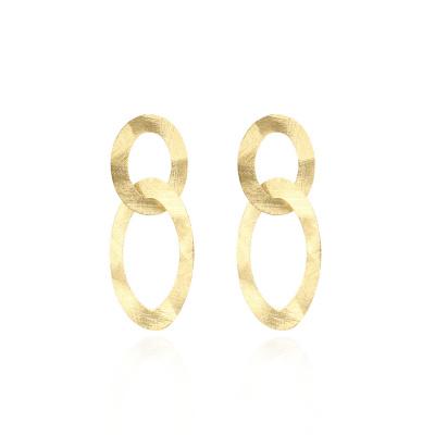 LOTT. gioielli 925 Sterling Zilveren Goudkleurige Classic Oorbellen CLEA963-G41518