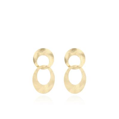 LOTT. gioielli 925 Sterling Zilveren Goudkleurige Oorbellen CLEA966-G41527