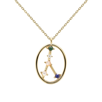 P D Paola Goudkleurige Cancer Ketting CO01-347-U