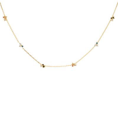 P D Paola 925 Sterling Zilveren Goudkleurige Atelier La Palette Ketting CO01-179-U