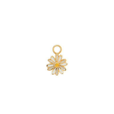 ANNA + NINA 925 Sterling Zilveren Daisy Oorbedel Silver Goldplated 20-1M904004GP