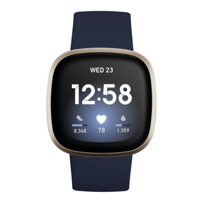 Fitbit Versa 3 Blauw display smartwatch FB511GLNV