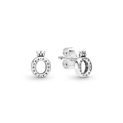 Pandora Stories 925 Sterling Zilveren Crown O Oorbellen 298295