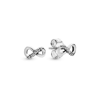 Pandora Stories 925 Sterling Zilveren Infinity Oorstekers 298820C01