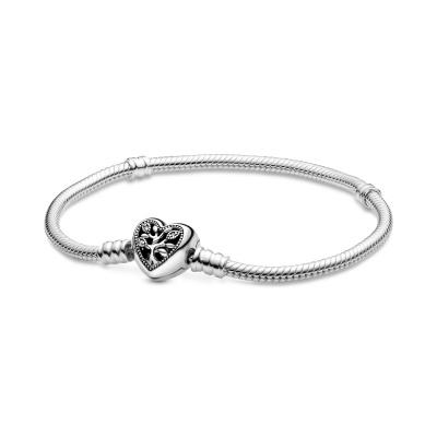 Pandora Moments 925 Sterling Zilveren Snake Chain Armband 598827C01 (Lengte: 17.00-21.00 cm)