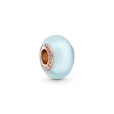 Pandora Colours PANDORA Rose Matte Blue Murano Glass Hanger 789420C00