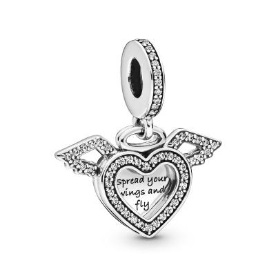 Pandora Moments 925 Sterling Zilveren Heart and Wings Bedel 798485C01