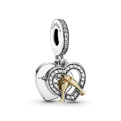 Pandora People Two-tone Happy Anniversary Dangle Bedel 799322C01