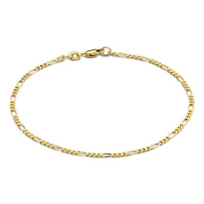 Isabel Bernard 14 Karaat Gouden Monceau Nina Armband IB2001103 (Lengte: 16.50-18.50 cm)