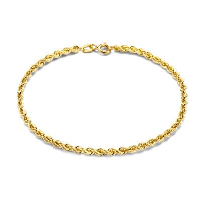 Isabel Bernard 14 Karaat Gouden Rivoli Violette Armband IB2001112 (Lengte: 18.00 cm)