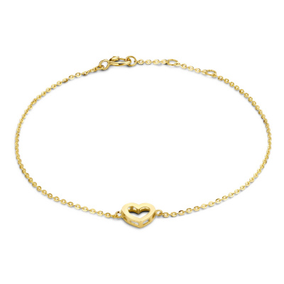 Isabel Bernard 14 Karaat Gouden Monceau Cleo Armband IB2001113 (Lengte: 16.50-18.50 cm)