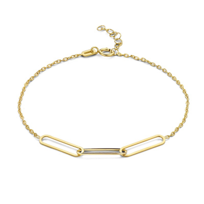Isabel Bernard 14 Karaat Gouden Le Marais Aidee Armband IB320015 (Lengte: 16.00-18.00 cm