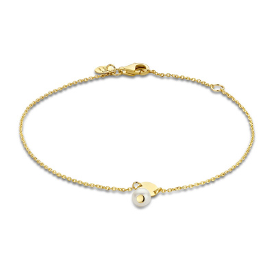 Isabel Bernard 14 Karaat Gouden Belleville Luna Armband IB320020