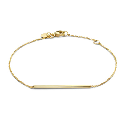 Isabel Bernard 14 Karaat Gouden Belleville Jade Armband IB320027