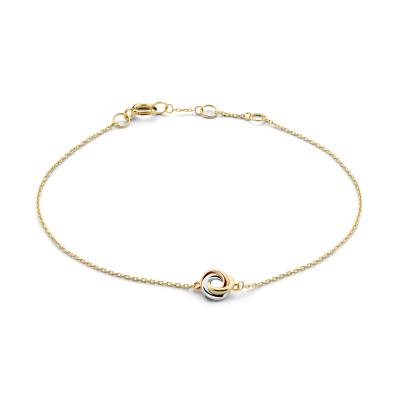 Isabel Bernard Tricolore Maeva 14 Karaat Gouden Armband Met Drie Kleuren Goud IB320050