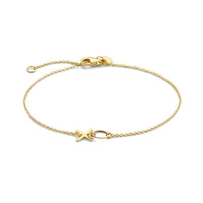 Isabel Bernard Belleville Bisou 14 Karaat Gouden Armband IB320053