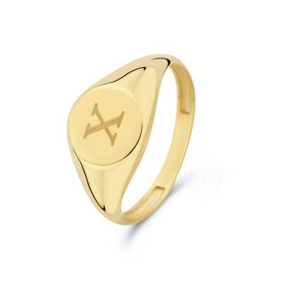 Isabel Bernard Le Marais Lauren 14 Karaat Gouden Initial Ring IB330034X (Letter: X)