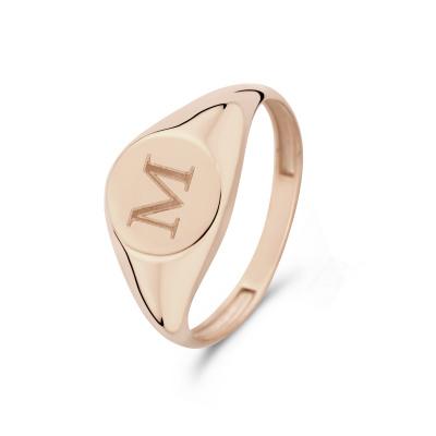 Isabel Bernard La Concorde Lauren 14 Karaat Rosé Gouden Initial Ring IB330036M (Letter: M)