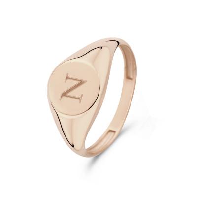 Isabel Bernard La Concorde Lauren 14 Karaat Rosé Gouden Initial Ring IB330036N (Letter: N)