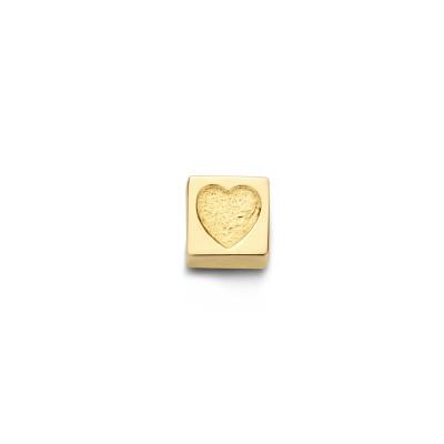 Isabel Bernard Le Carré Felie 14 Karaat Gouden Kubus Bedel Hartje IB350044