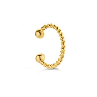 Isabel Bernard 14 Karaat Gouden Le Marais Cannelle Single Oorsteker IB370003