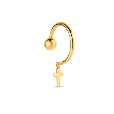 Isabel Bernard 14 Karaat Gouden Le Marais Cannelle Single Oorsteker IB370004