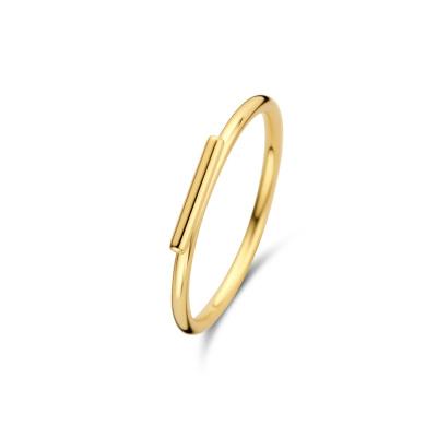Isabel Bernard 14 Karaat Gouden Belleville Jade Ring IB330009