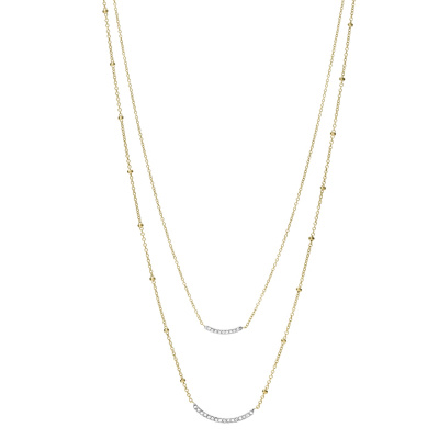 Fossil Sutton Dames Ketting van Roestvrij Staal JF03873998 (Lengte: 45.70 - 50.00 cm)