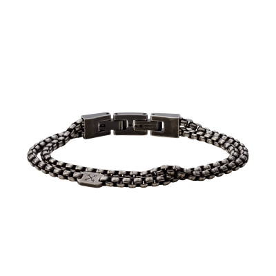 Fossil Vintage Casual Heren Armband van Roestvrij Staal JF03916797 (Lengte: 18.00 - 19.50 cm)
