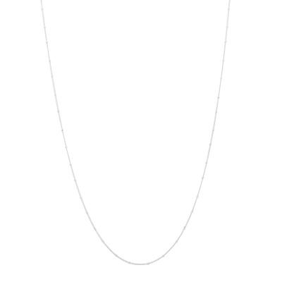 ANNA + NINA 925 Sterling Zilveren Kahlo Plain Ketting XL 21-1M903006S
