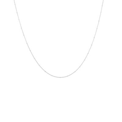 ANNA + NINA 925 Sterling Zilveren Kahlo Plain Ketting XS 21-1M903007S