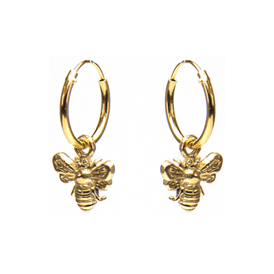Karma Hoops Bee Goldplated Oorstekers M1981