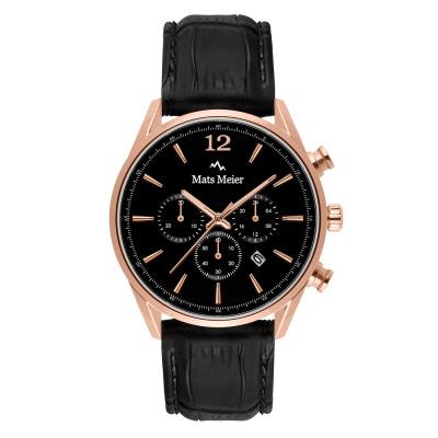 Mats Meier Grand Cornier Zwart Chrono horloge MM00129