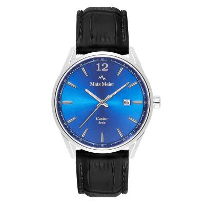 Mats Meier Castor Blauw/Zwart horloge MM01004
