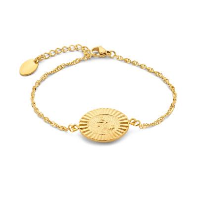 May Sparkle Bloom Girl Bloom Amber Goudkleurige Armband MS10024