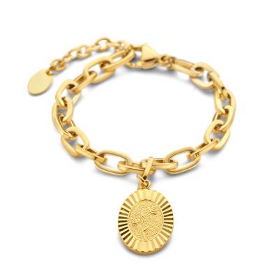 May Sparkle Daisy Bloom Girl Bloom Goudkleurige Armband MS10094 (Lengte: 16.50-19.50 cm)