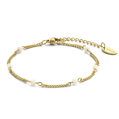 May Sparkle Happiness Jessie Goudkleurige Armband MS320012 (Lengte: 16.50-19.50 cm)