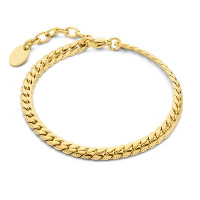 May Sparkle Summer Breeze Renee Goudkleurige Armband Met Vissengraatschakel MS320030