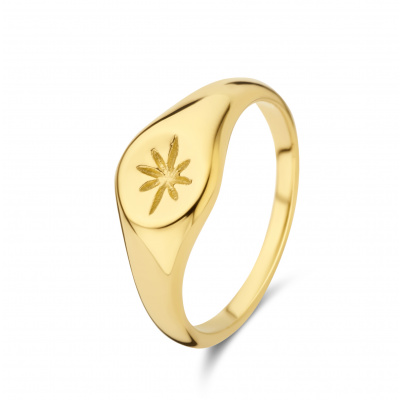 May Sparkle Summer Breeze Rosa Goudkleurige Ring MS330002