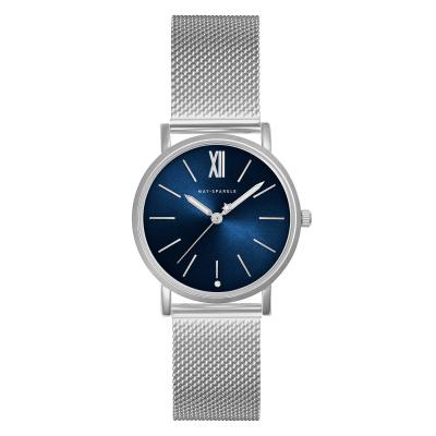 May Sparkle Bloom Girl Bloom River Zilverkleurig/Blauw horloge MSB008